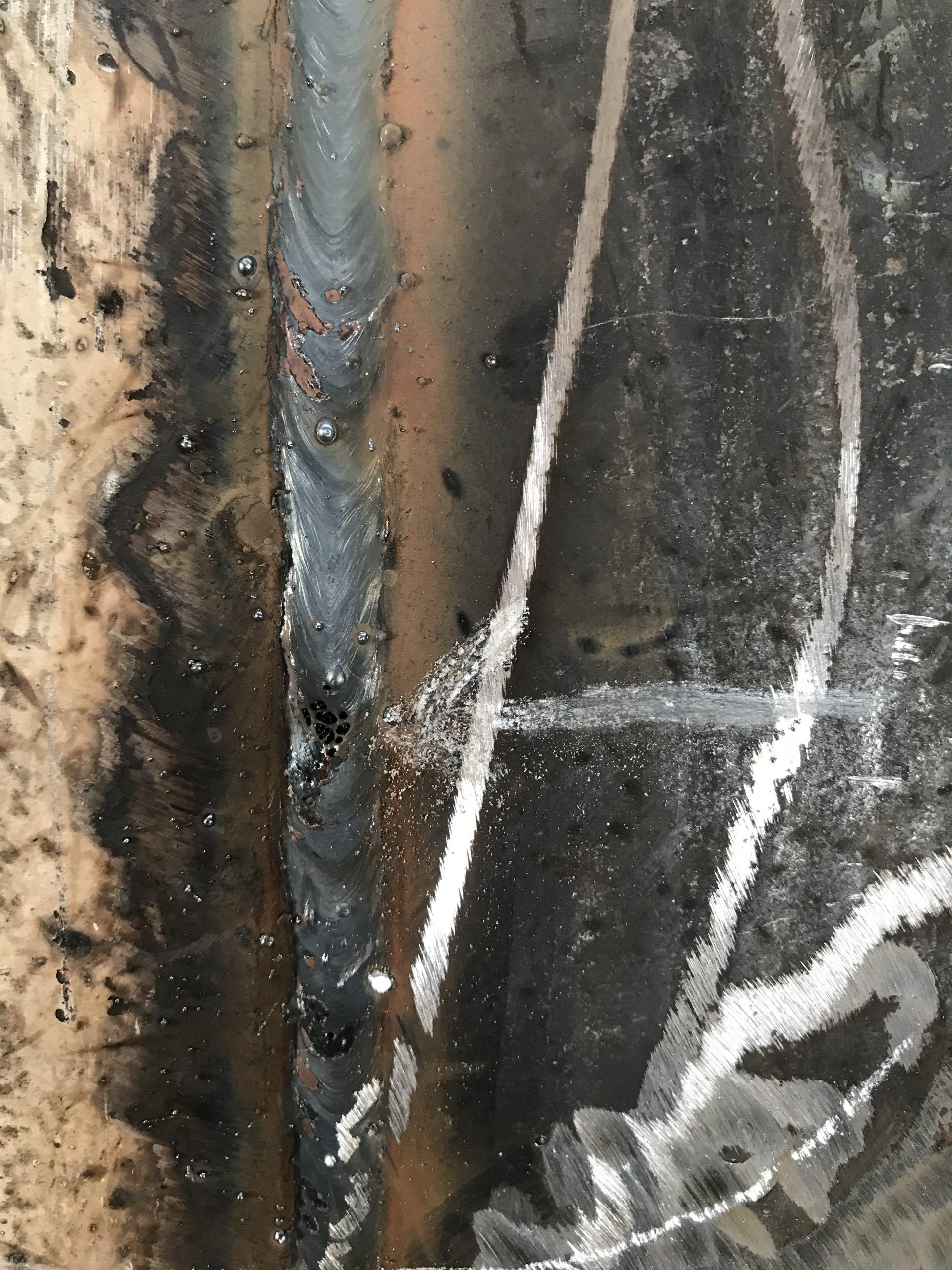 نمونه جوش کرمالو روی تانکر یا مخزن تحت فشار