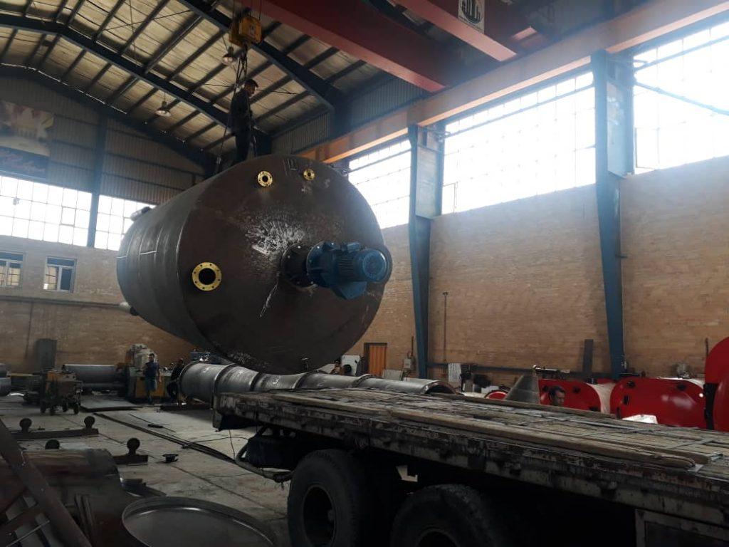 راکتور 30 تن از ورق 15 میل با جوشکاری زیر پودری، موتور گیربکس 30 اسب